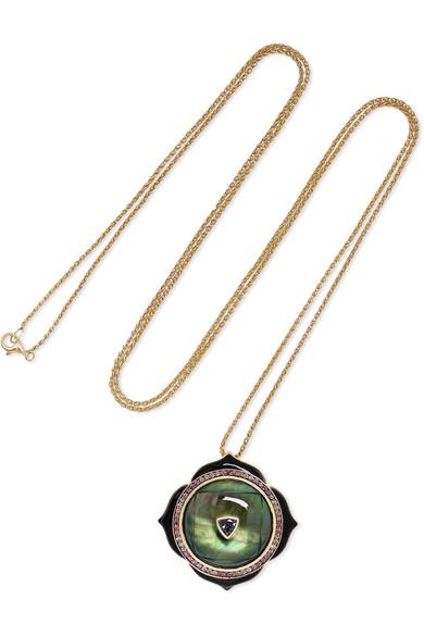 NOOR FARES | Noor Fares - Muladahara 18-karat Gold Multi-stone Necklace - one size | Goxip