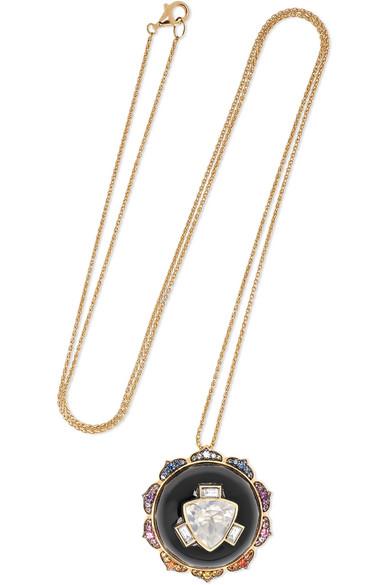 NOOR FARES | Noor Fares - Manipura 18-karat Gold Multi-stone Necklace - one size | Goxip
