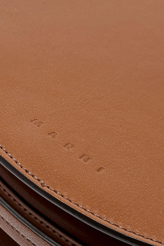 Marni Melville acrylic-trimmed leather shoulder bag