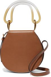 마르니 Marni Melville acrylic-trimmed leather shoulder bag