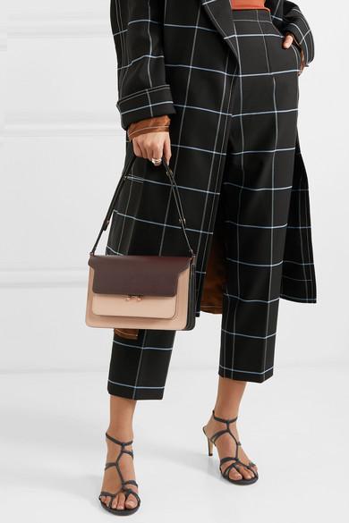 Marni Pants Trunk medium color-block textured-leather shoulder bag