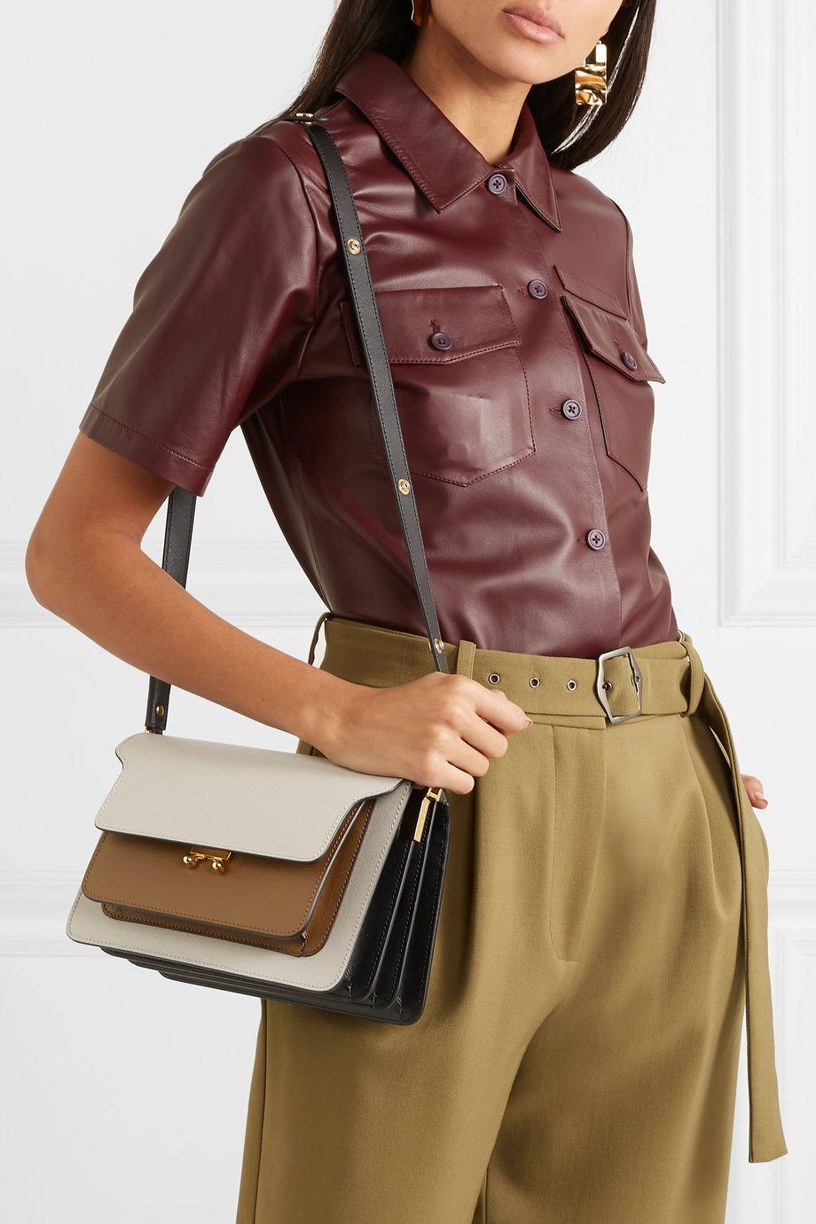 Marni Sac porté épaule en cuir texturé Trunk Medium