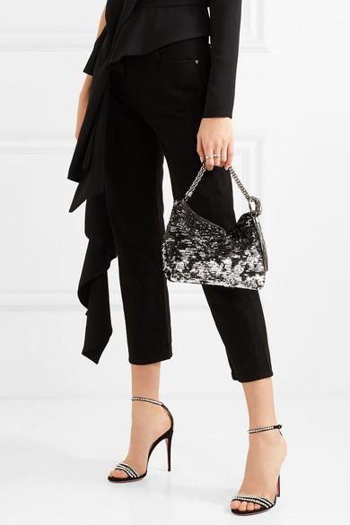 Jimmy Choo Bags Callie sequined satin clutch