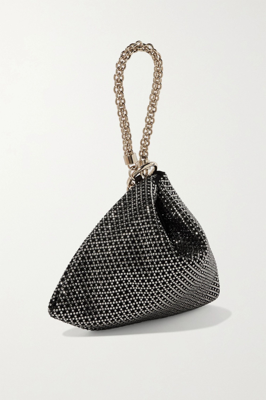 Jimmy Choo Callie tasseled crystal-embellished suede shoulder bag