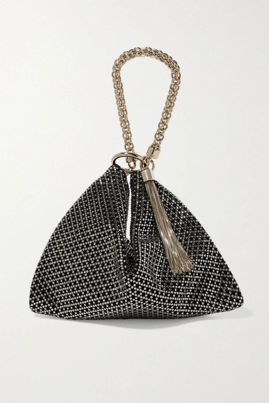 Jimmy Choo Callie tasseled crystal-embellished suede shoulder bag