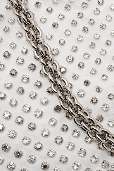 Jimmy Choo Bags Callie crystal-embellished satin clutch