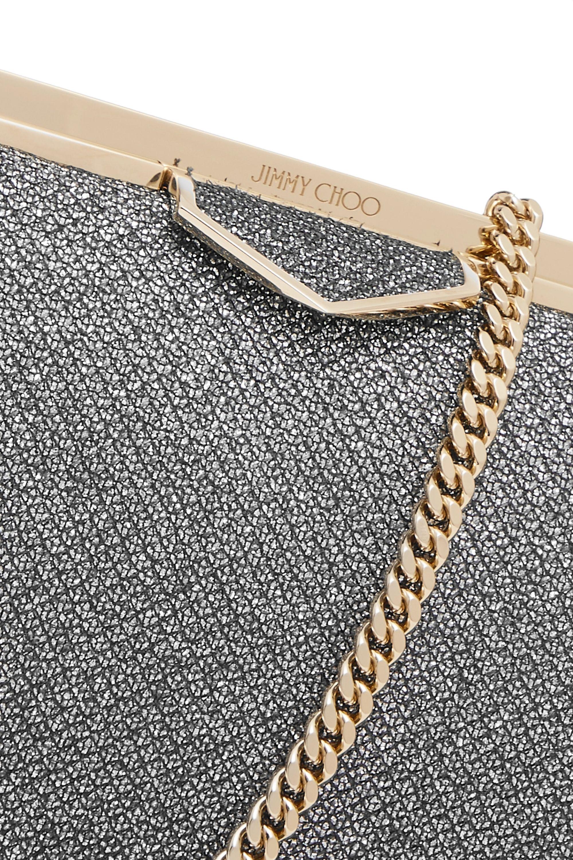 Jimmy Choo Ellipse glittered leather clutch