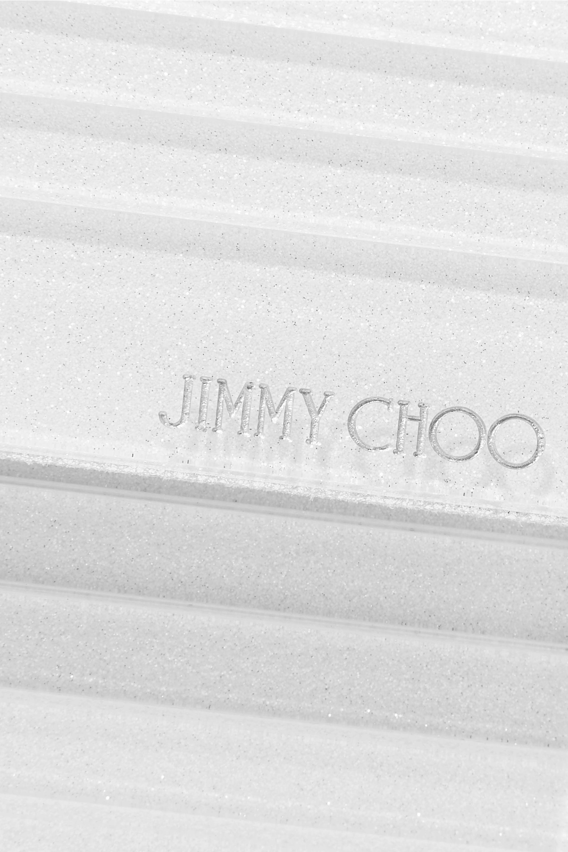 Jimmy Choo Sweetie glittered acrylic and metallic leather clutch