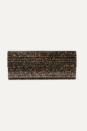 Sweetie glittered acrylic and leather clutch