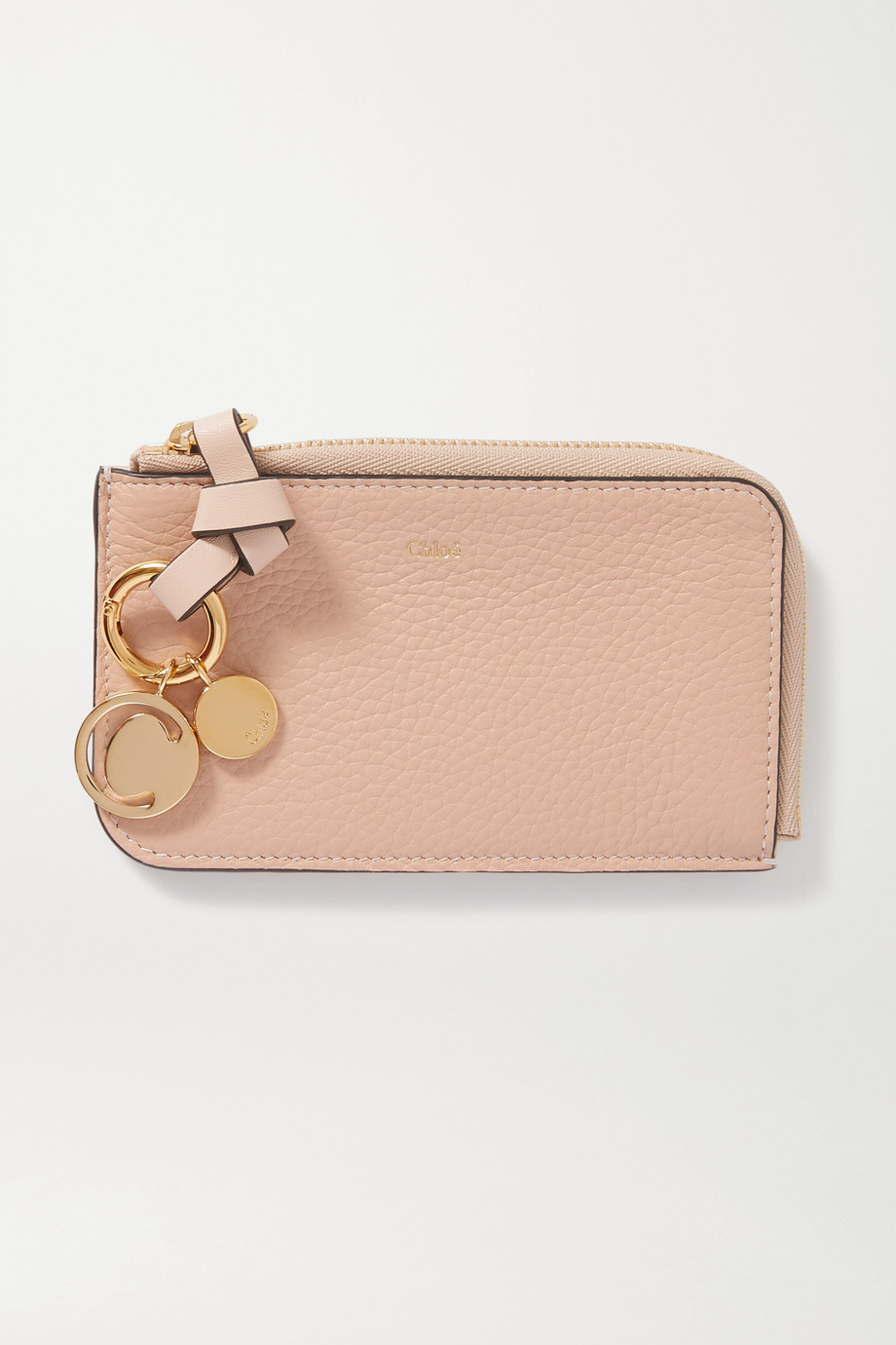 Chloé Alphabet textured-leather wallet