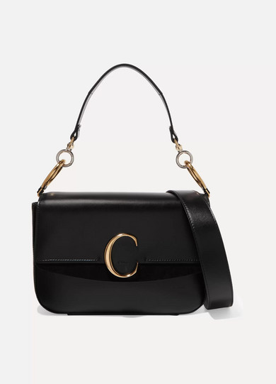 e8e818553d25 Chloé | Chloé C medium suede-trimmed leather shoulder bag | NET-A ...