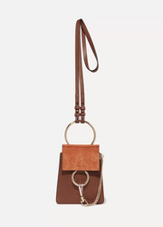 Faye Bracelet leather and suede shoulder bag