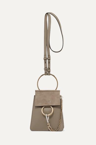 Faye Bracelet Leather And Suede Shoulder Bag by Chloé