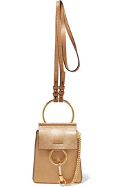 Faye Bracelet metallic textured-leather shoulder bag