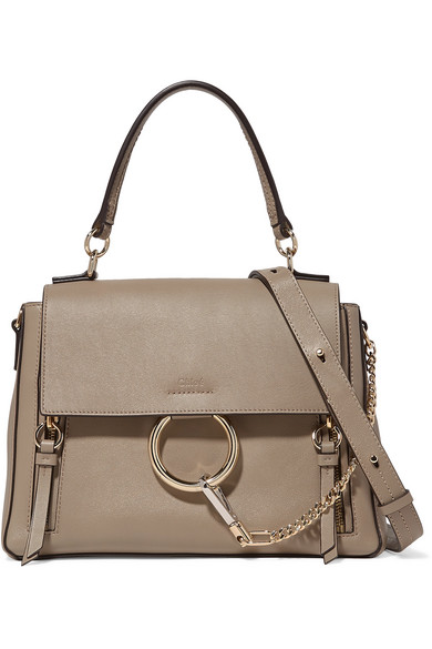 Faye Day Large Leather And Suede Shoulder Bag by Chloé
