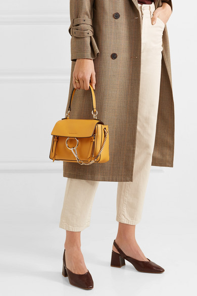 4bfd9371a6 Chloé | Faye Day mini textured-leather shoulder bag | NET-A-PORTER.COM