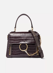 Faye Day small croc-effect leather shoulder bag