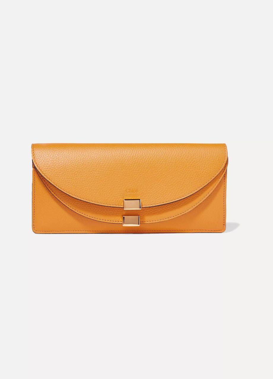 Chloé Georgia textured-leather wallet