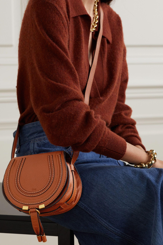 Sac porté épaule en cuir texturé Marcie Mini