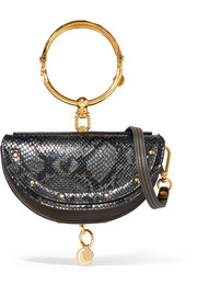 Nile Bracelet mini snake-effect leather shoulder bag