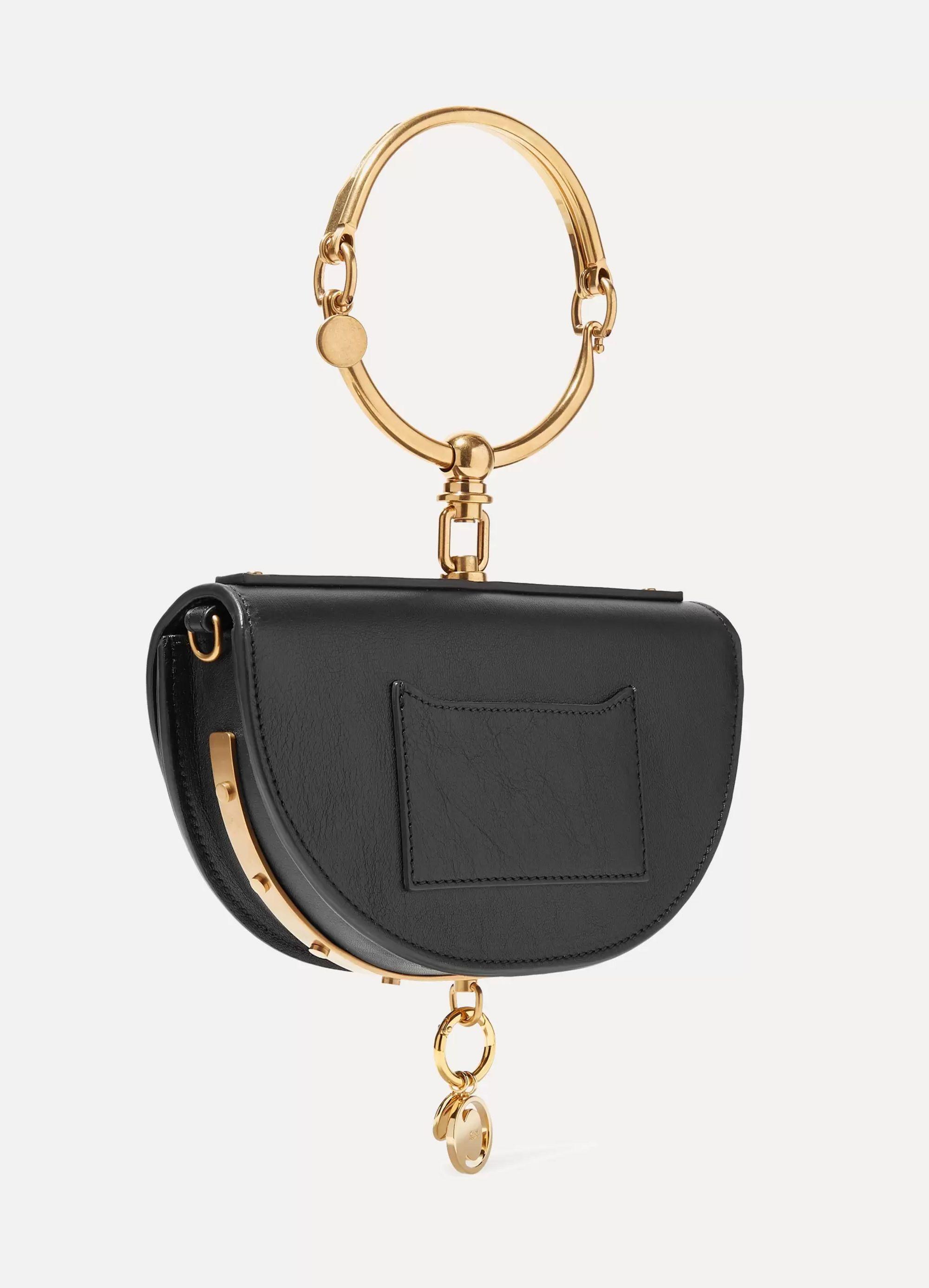 Chloé Nile Bracelet mini textured-leather shoulder bag