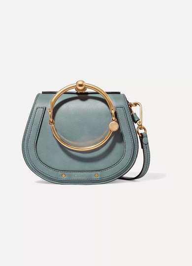 58a748087a Nile Bracelet small textured-leather and suede shoulder bag