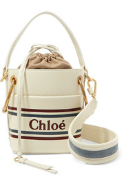 Chloé Roy mini printed leather bucket bag