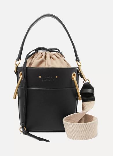 5c5e476f5485 ChloÉ Roy Mini Leather Bucket Bag In Black