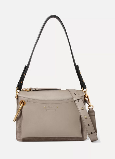 Roy Day Small Leather And Suede Shoulder Bag by Chloé