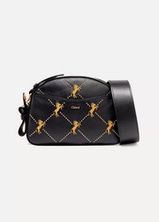Chloé Studded embroidered leather shoulder bag