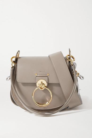 22f91a646960 Chloé | Tess small leather and suede shoulder bag | NET-A-PORTER.COM