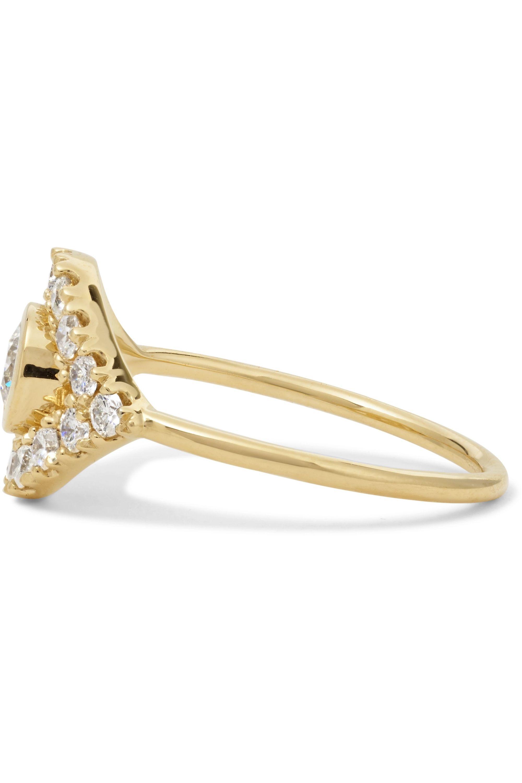 Sydney Evan Evil Eye 14-karat gold diamond ring