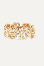 Monstera 14-karat gold diamond ring