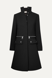 Chloé Zip-detailed wool-crepe coat