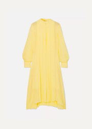 Chloé Pleated silk-chiffon dress