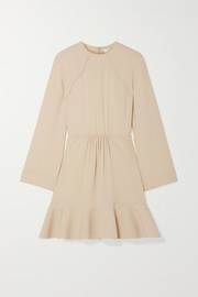 Chloé Gathered crepe de chine dress