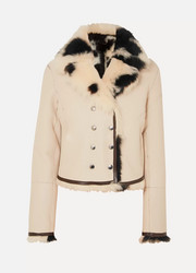 Chloé Reversible double-breasted shearling jacket