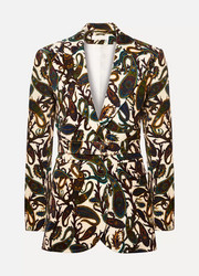 Chloé Printed cotton-blend velvet blazer