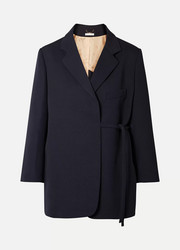 Chloé Oversized asymmetric wool-blend twill blazer