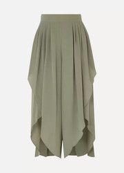 Chloé Pleated silk crepe de chine pants