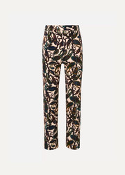 Chloé Printed cotton-blend velvet straight-leg pants