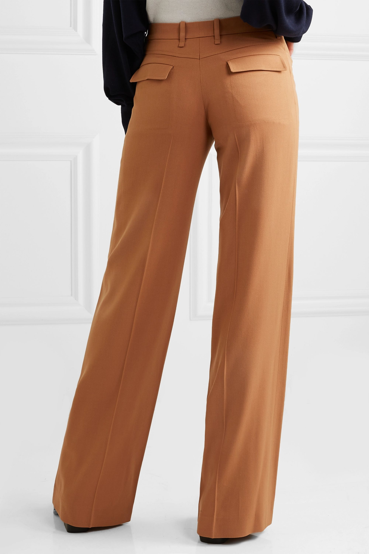 Chloé Hose mit weitem Bein aus Twill aus einer Wollmischung