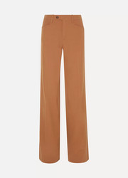 Chloé Wool-blend twill wide-leg pants