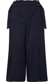 Chloé Cropped wool-drill wide-leg pants