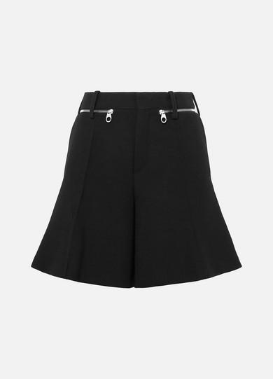 Chloe Black Wool Crepe Compact Shorts