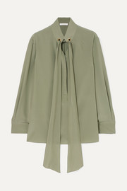 Chloé Tie-neck silk crepe de chine blouse