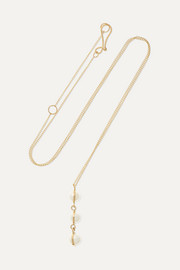 Melissa Joy Manning 14-karat gold pearl necklace