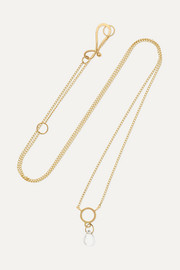 Melissa Joy Manning 14-karat gold topaz necklace