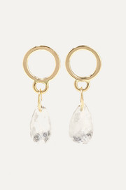 Melissa Joy Manning 14-karat gold moonstone earrings