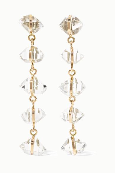 Melissa Joy Manning 14 Karat Gold Herkimer Diamond Earrings Net A Porter Com